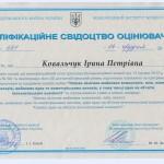 Квалиф свид ЦМК 2013 год